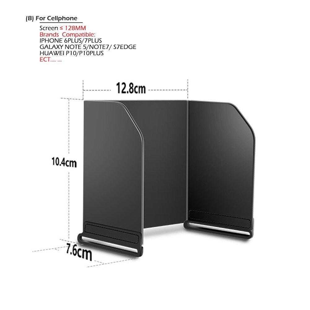 BTG Remote Controller Phone Tablet Monitor Sunshade for DJI Mavic...