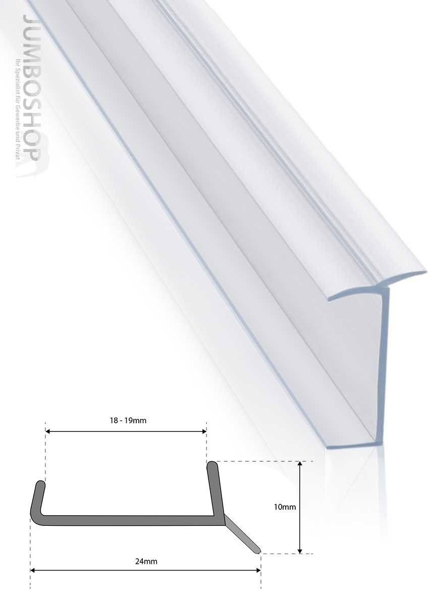 19 mm 1,5 m Blanco Perfil de Aislamiento Base de Cocina con Perfil de Estanqueidad STEIGNER Junta para Z/ócalo de Cocina LU 18 mm