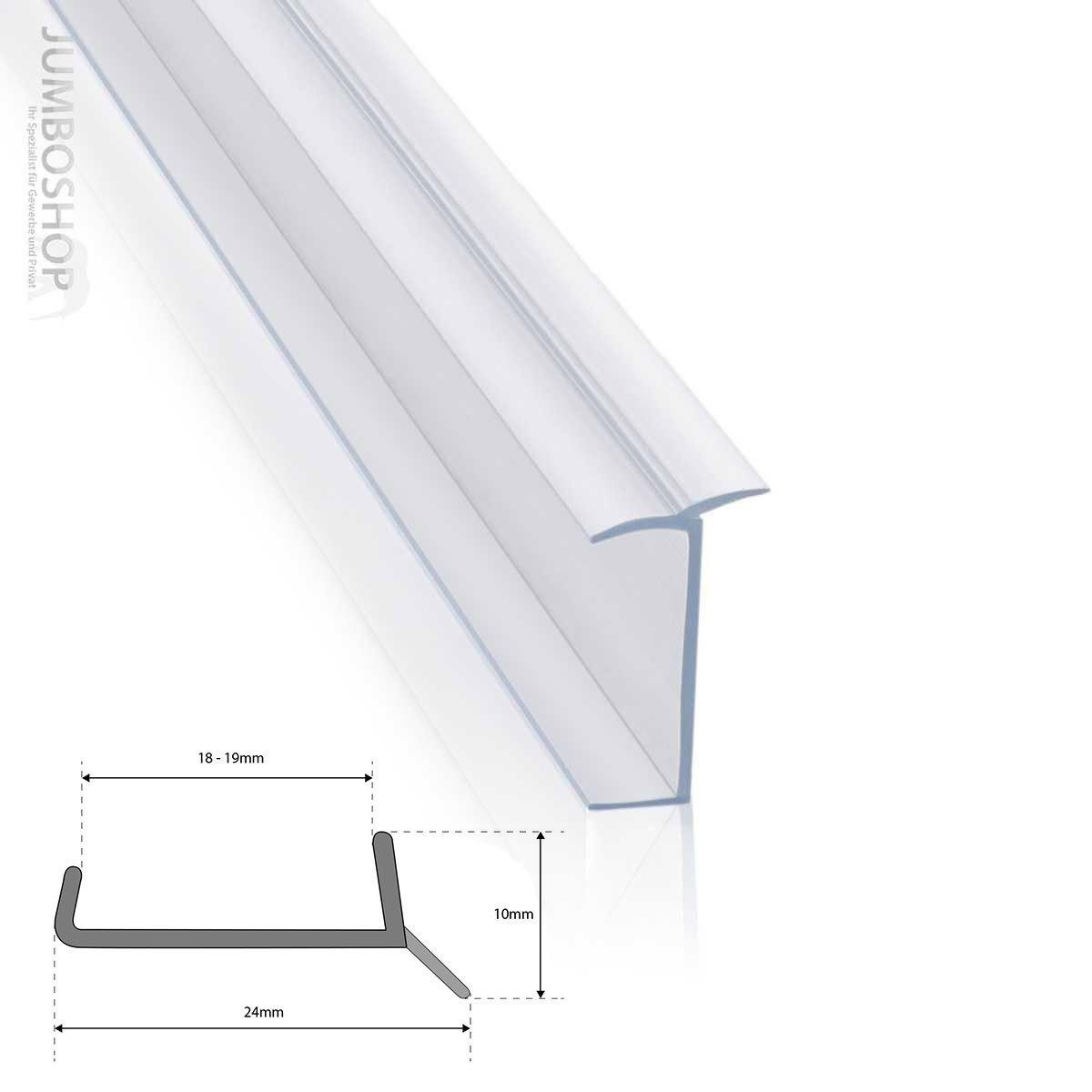 Blanc 19 mm 1,5 m Bavette de plinthe de meuble de cuisine STEIGNER Joint de cuisine LU 18 mm
