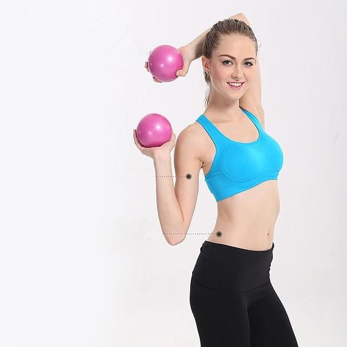 ZHEN Suave de PVC pesas mancuernas fitness bola mujer hogar fitness yoga bola 1 kg * 2 , blue: Amazon.es: Deportes y aire libre