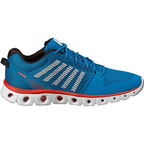 K-swiss Men's X Lite Fashion Sneakers, Blue/White/Solar Red, 10.0