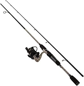 "Lews Fishing, American Hero Camo Speed Spin Spinning Combo, 6.2:1 Gear Ratio, 31"" Retrieve Rate, 6' 2pc, Medium Power, Ambidextrous"