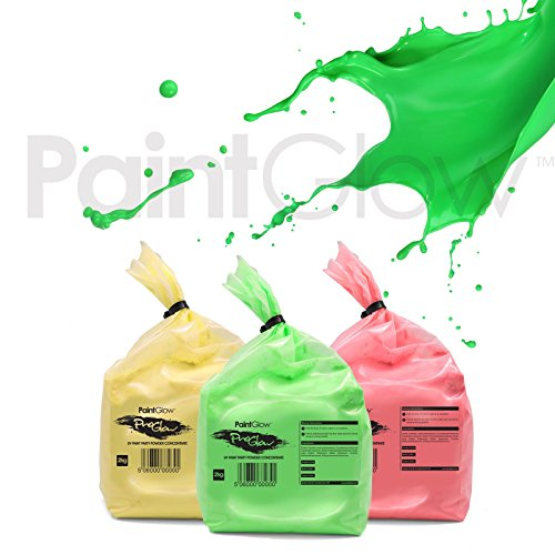 PaintGlow Neon UV Paint Party Powder (3 Pack) Free UPS Next Day Delivery UKonly ()