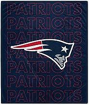 Pegasus Sports NFL Echo Team Wordmark Plush Blanket- New England Patriots