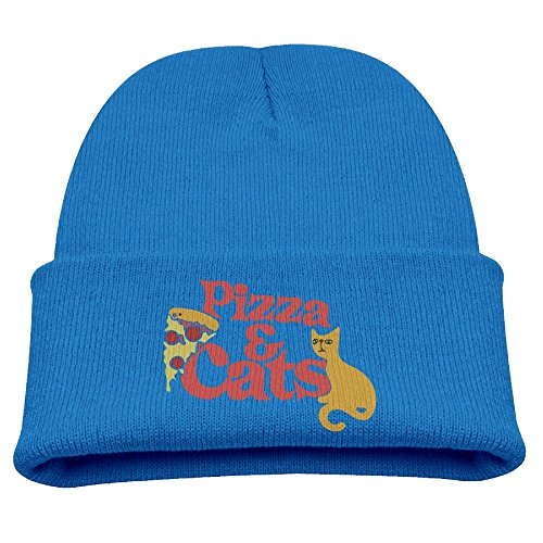 (BaPaLa Children's Pizza and Cats Skull Cap Beanie Soft Winter Knitted Hat)