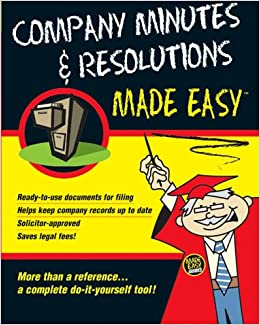 Company minutes resolutions made easy amazon anon company minutes resolutions made easy amazon anon 9781902646411 books solutioingenieria Image collections