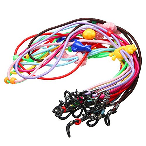 Kids Children 12 Pcs Elastic Colorful Safety Eyeglass Neck String Holder Glasses Cords Chains Rope Eyewear Retainer Lanyard For Sports
