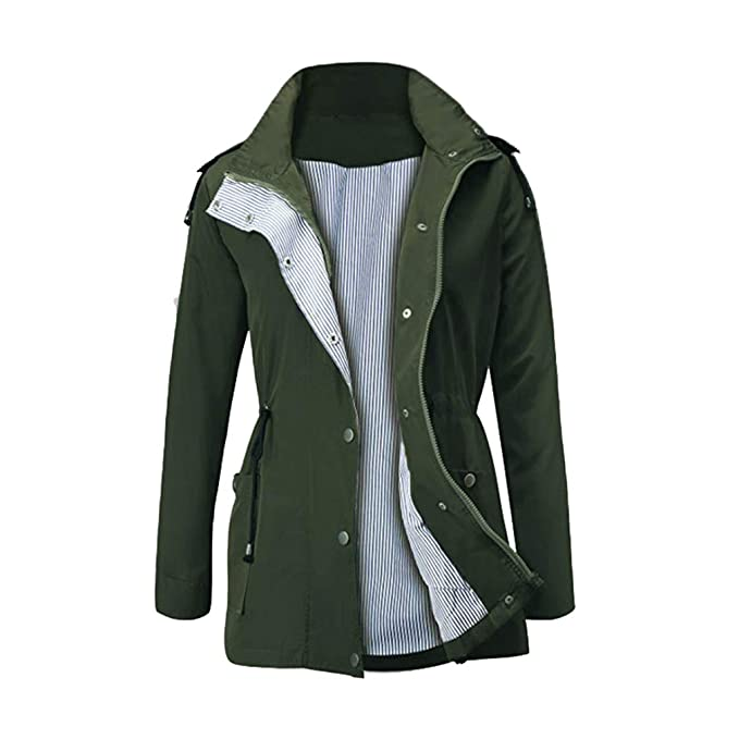 Mxssi Mujeres Exterior Impermeable Ligero Impermeable ...