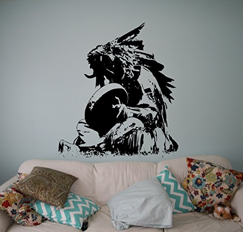 Native American Shaman Wall Vinyl Decal Traditional Ameri...
