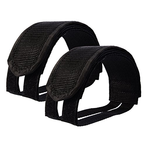 Outus Pedal Straps Bicycle Feet Strap Bike Strap for Fixed Gear Bike, Black Fixie Straps