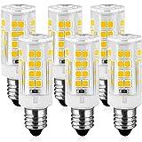 6-Pack 5W E11 LED Light Bulb, 40W Halogen Equivalent, 120V, 400Lumens, Warm White 3000K LED Lights by KINDEEP