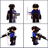 6pcs/lot SWAT Military Riot Special Weapons and Tactics Mini Figure Super Hero Kid Baby Toy Blocks Sets Model Minifigures Brick