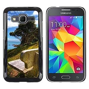 Caucho caso de Shell duro de la cubierta de accesorios de protección BY RAYDREAMMM - Samsung Galaxy Core Prime - Nature Beautiful Forrest Green 178