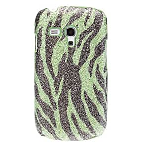 Bling Zebra Stripe Pattern Hard Case for Samsung Galaxy S3 Mini I8190 --- COLOR:Silver