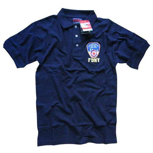 FDNY POLO SHIRT, Officially Licensed Embroidered New York Fire Department Shirt, Navy S
