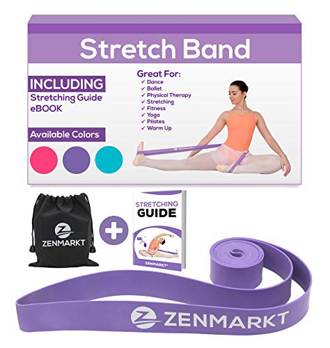for Dancers - Exercise Band for Stretching Dance Ballet Flexibility Gymnastics Strap - Ballet Stretch Band for Kids & Adults Resistance Bands Leg Stretcher Fitness Gifts for Women ()