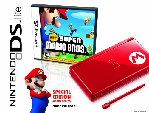 New Ds Super Nintendo Lite Bros Mario (Nintendo DS Lite Limited Edition Red Mario with New Super Mario Bros.)