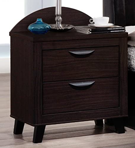 Hodedah Walnut NS Milan Night Stand