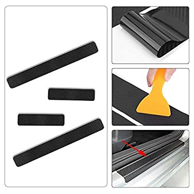 4PCS 3D Carbon Fiber Welcome Pedals Sill Guards Anti-kick Scratch Door Kick Guard Threshold Sticker for ACURA ILX RDS TLX MDX RLX NSX: Automotive