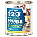Rust-Oleum 2004 Zinsser Bulls Eye 1-2-3 White Water-Based Interior/Exterior Primer Sealer, 1-Quart