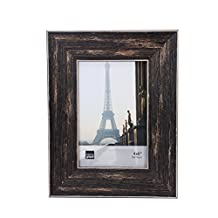 Kiera Grace Emery Picture Frame, 4 by 6 Inch, Weathered Barnwood Finish