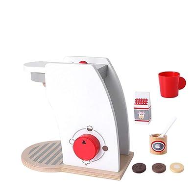 Bodbii Juguetes para niños Mezclador Pop Up Tostadora Cafetera de Madera Juego de imaginación Juego de Cocina con Accesorios: Hogar