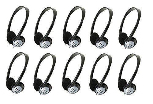 Panasonic On-Ear Stereo Headphones RP-HT21 (100-Pack) by Panasonic