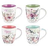 Christian Art Gifts Mug Set-Rejoice (Set Of 4)