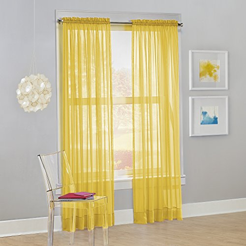 (No. 918 Calypso Sheer Voile Rod Pocket Curtain Panel, 59