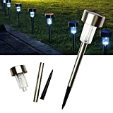 Cheap Express Living Cool White 2018 Stainless Steel Outdoor Solar Garden Lights, Solar Pathway Lights, Outdoor Landscape Lighting for Lawn/Garden/Walkways (Set of 5)