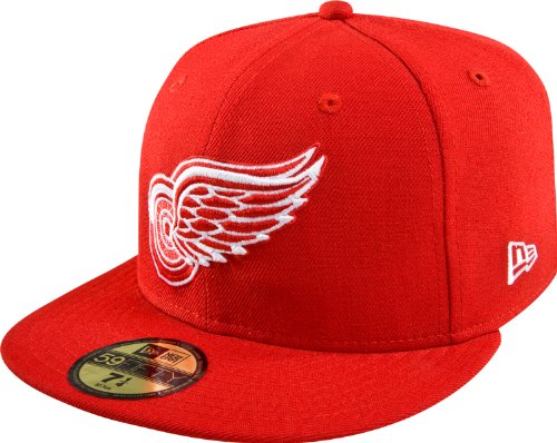 NHL Detroit Redwings Basic 59Fifty Cap, Red, 7 1/8