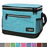 OPUX Premium Insulated Lunch Bag with Shoulder Strap | Lunch Box for Adults, Kids | Soft Leak Proof Liner | Medium Lunch Cooler for Office, School | Fits 6 Cans (Turquoise)
