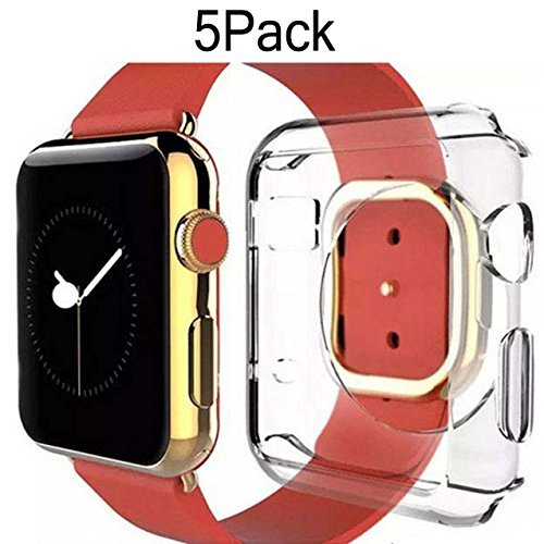 1 Carrot Diamond - For Apple Watch Case 42mm CaseHQ Thinnest Most Lightweight Screen Protector Case Cover TPU Slim All-around Protective Cases Fit for Apple Watch / Watch Sport / Watch 2015(42mm) Crystal Clear 5Pack