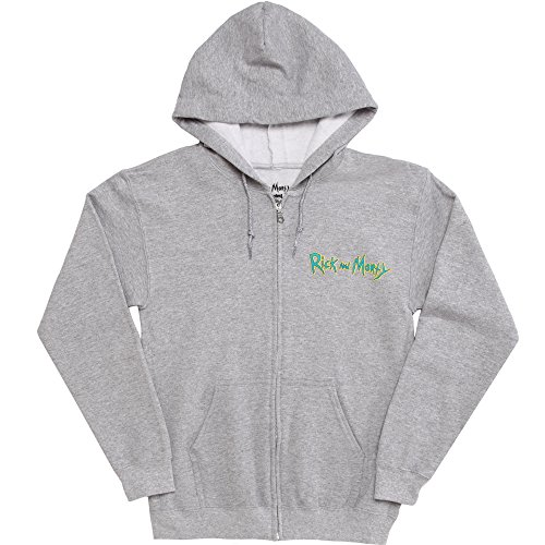 Ripple Junction Rick and Morty Time to Get Schwifty Adult Zip Hoodie - Grey (Medium)