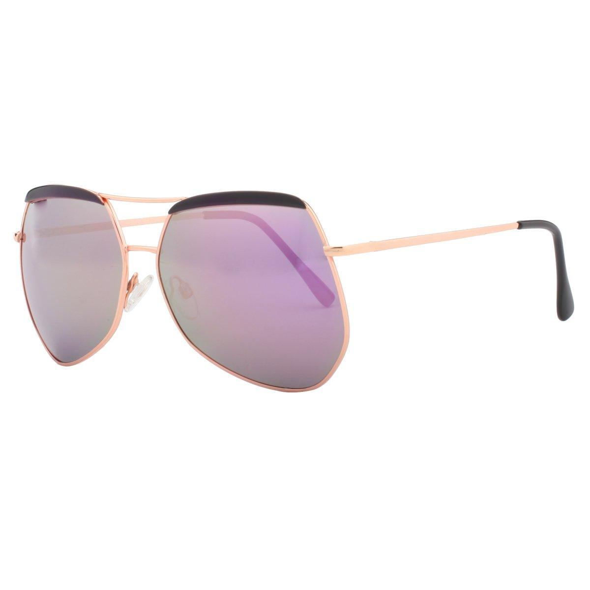 Vivienfang polígono de gran tamaño gafas de sol Cejas Top ...