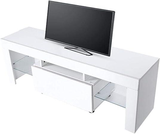 EBTOOLS Gabinete de TV LED Moderno Fuerte Mueble de Televisión con ...