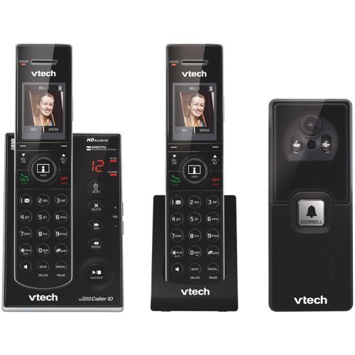 VTECH IS7121-2 DECT 6.0 2-Handset Video Doorbell Landline Telephone ()