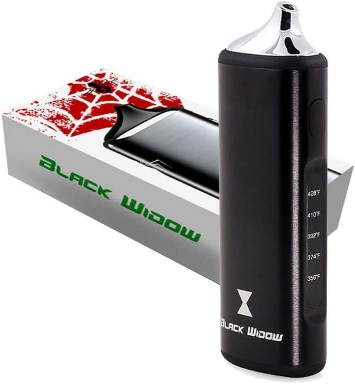Vapesoon Black Widow Vaporizador de hierba y concentrado portátil, Premium y portátil, batería enorme, 5 configuraciones de temperatura y uso 2 en 1
