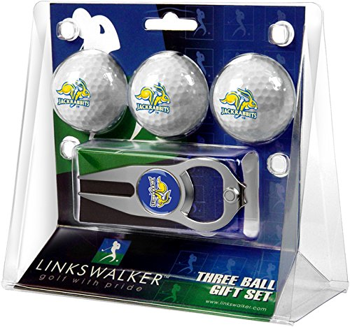 South Golf Dakota Ball (NCAA South Dakota State Jackrabbits - 3 Ball Gift Pack with Hat Trick Divot Tool)