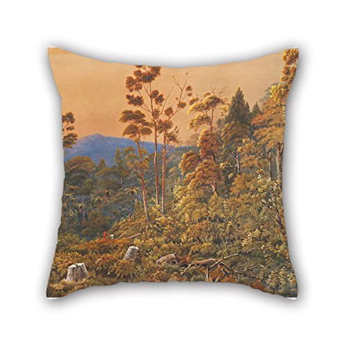 Artistdecor Oil Painting Alfred Sharpe - A Golden Eve, Waiheke Island Pillow Cases ,best For Husband,coffee House,bar Seat,couples,boys,gf 16 X 16 Inches / 40 By 40 Cm(both Sides)
