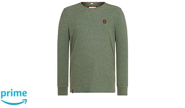 95380f59b04b5a Amazon.com  Naketano Men s T-Shirt AAL Macht AnXl III Heritage Pine Green  Melange