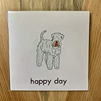 Wheaton Terrier Happy Day Greeting Card