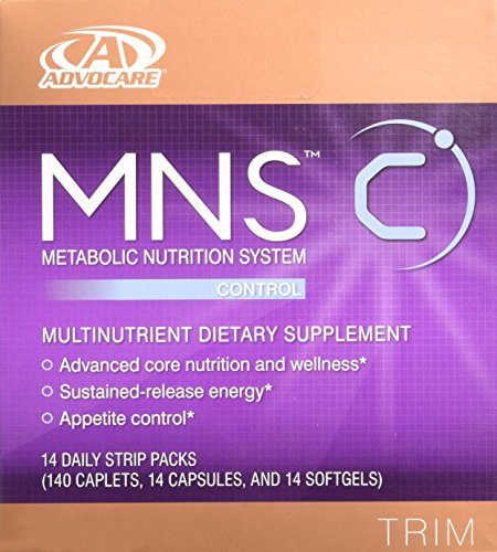 Advocare MNS C dietary supplement,TRIM, 14 daily strip packs