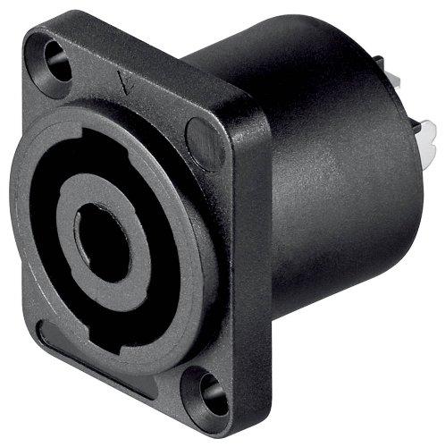 10 Stück, PA Lautsprecher Einbaukupplung eckig 4 polig