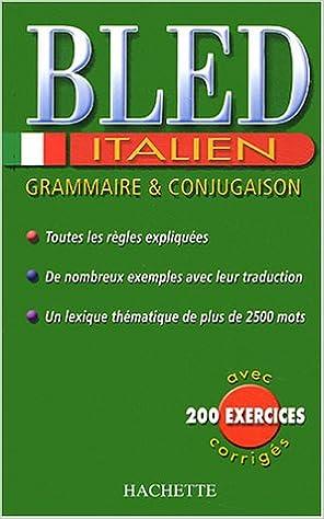 Livres Bled Italien : Grammaire et conjugaison pdf epub