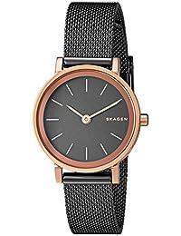 Skagen Women's 'Hald' Quartz Stainless Steel Automatic Watch, Color:Brown (Model: SKW2492)