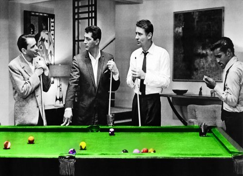 (The Rat Pack Pool Table Canvas Art 55 x 24 inch)