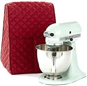 Stand Mixer Cover Home Kitchen Dust-proof Stand Mixer Cover Quilted Pocket Organizer Bagfor Mixers (Red)