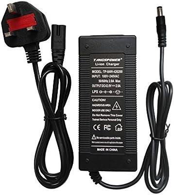 Tangspower Cargador de Batería DE 36 V 2 A 42 V 2 A Entrada ...