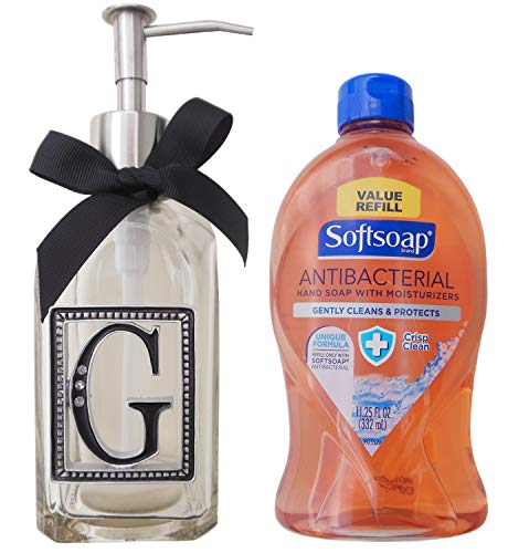 Initial Soap and Lotion Dispenser Bundle with Softsoap Antibacterial Liquid Soap (Initial-G)